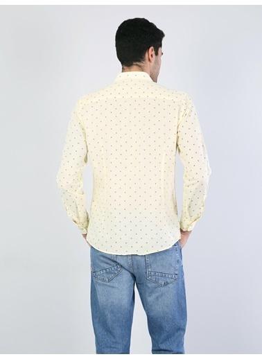 Colin's Slim Fit Erkek Sarı Uzun Kol Gömlek Sarı